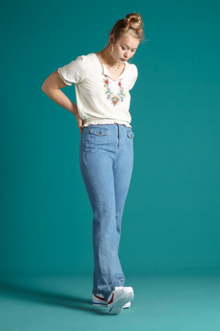 Carol Braid Pants Canyon Denim