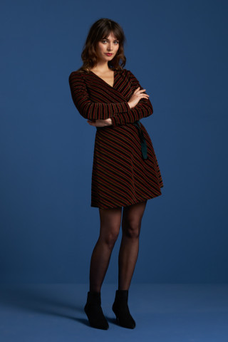 Wrap Dress Nikki Stripe