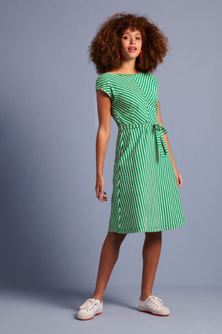 Grace Dress Breton Stripe