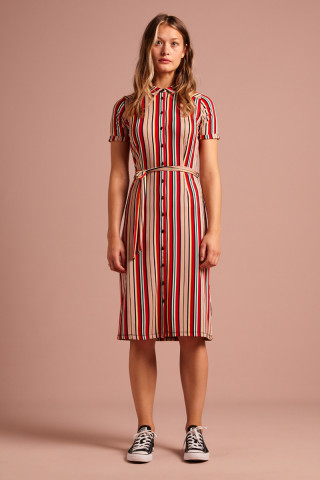 Rosie Slimfit Dress Lido Stripe