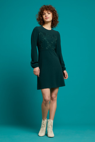 Polly Dress Woven Crepe