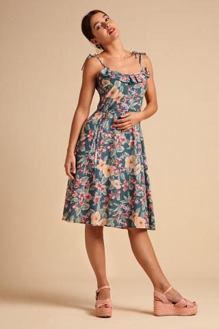 Viola Ruffle Dress St Kitt