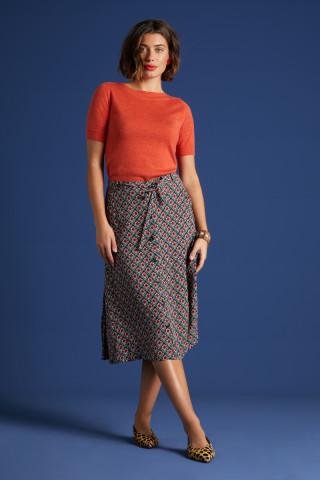 Juno Button Skirt Palmer