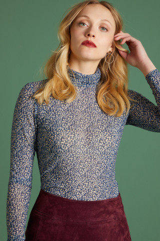 Betsy Rollneck Top Moonlight
