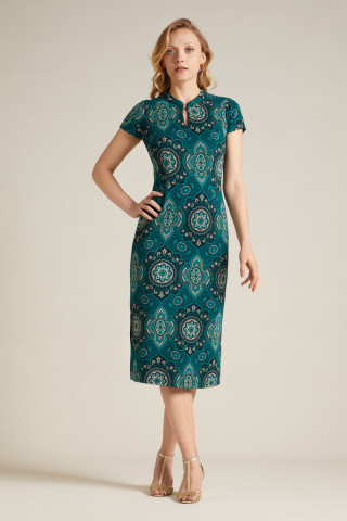 Chinese Midi Dress Regal