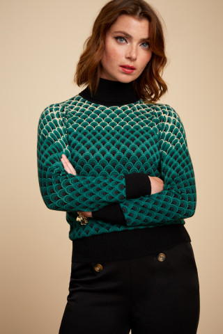 Rollneck Top Pastery Knit
