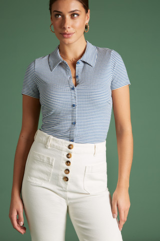 Blouse Tweedy Stripe