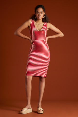 Lucia Dress Breton Stripe