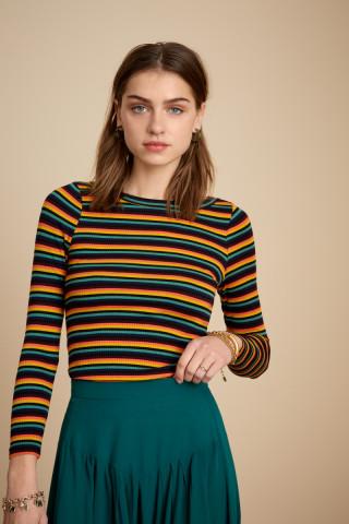 Lily Top Jardin Stripe