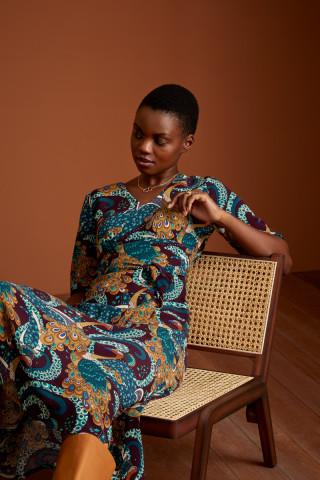 Shiloh Midi Dress Perot