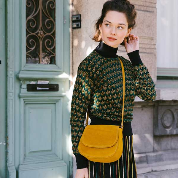 Shop the Look Rollneck Top Fiddle Pine Green AW19
